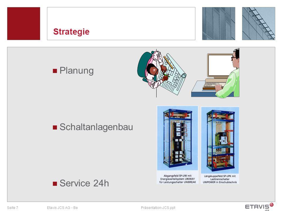 Strategie Planung Schaltanlagenbau Service 24h Etavis JCS AG - Be