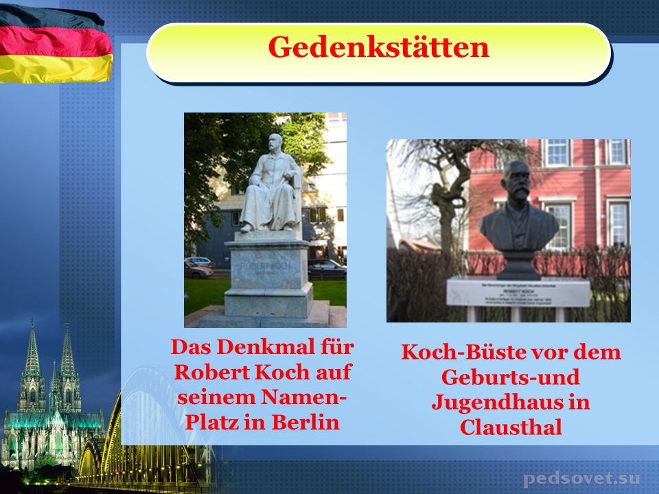 Das Denkmal für Robert Koch auf seinem Namen-Platz in Berlin