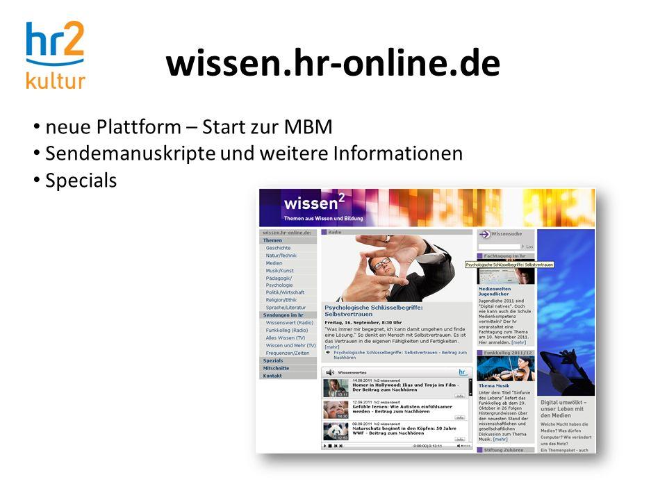 wissen.hr-online.de neue Plattform – Start zur MBM
