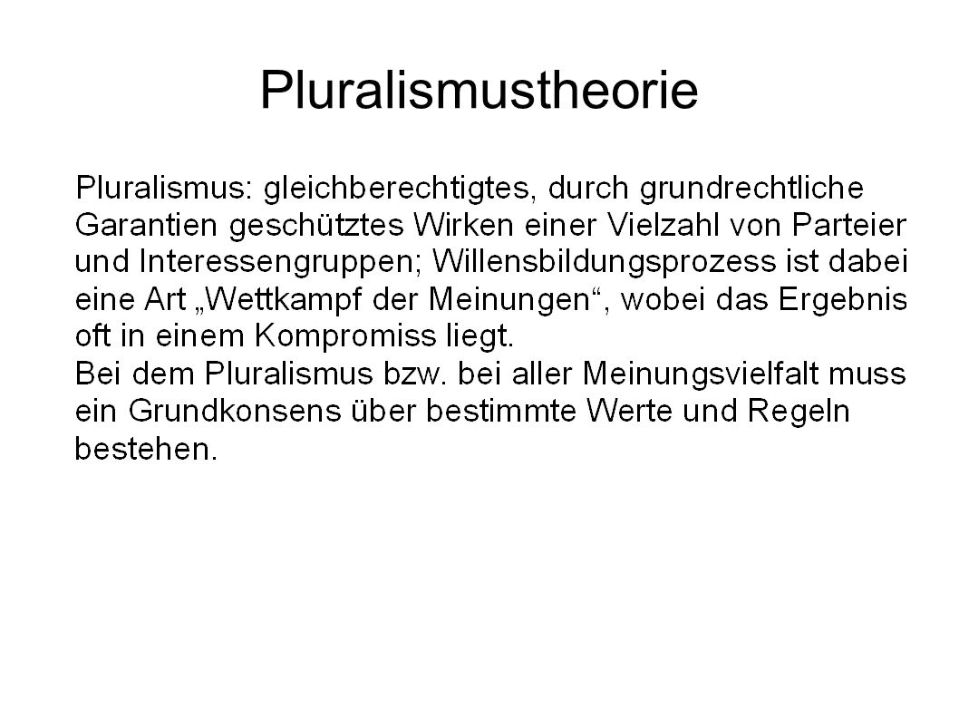 Pluralismustheorie