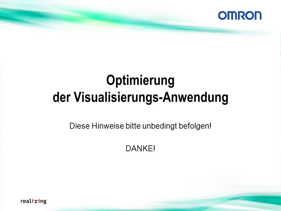 Optimierung der Visualisierungs-Anwendung