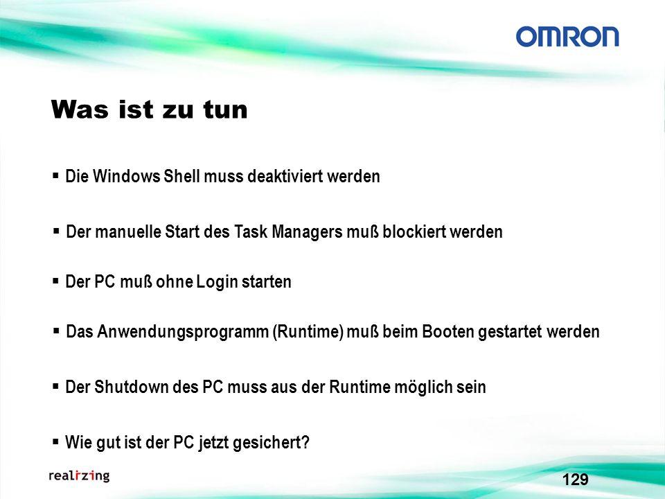 Was ist zu tun Die Windows Shell muss deaktiviert werden