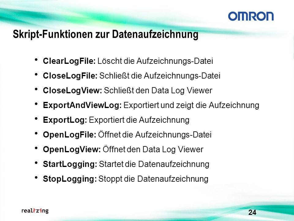 Skript-Funktionen zur Datenaufzeichnung