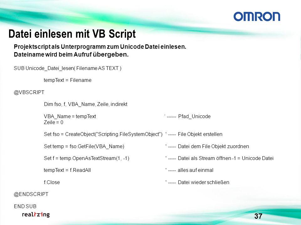 Datei einlesen mit VB Script
