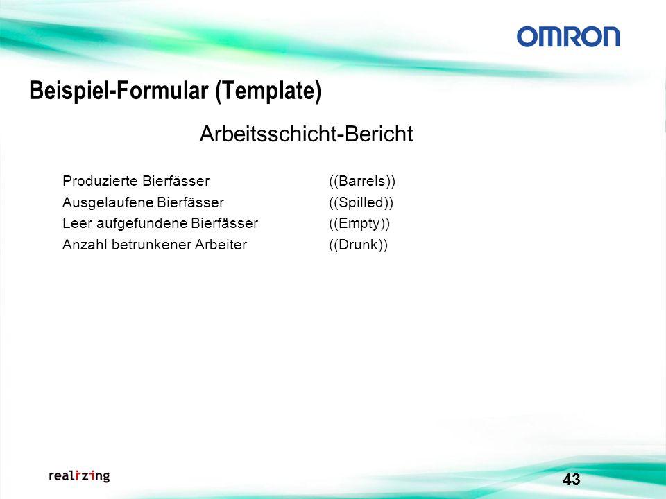 Beispiel-Formular (Template)