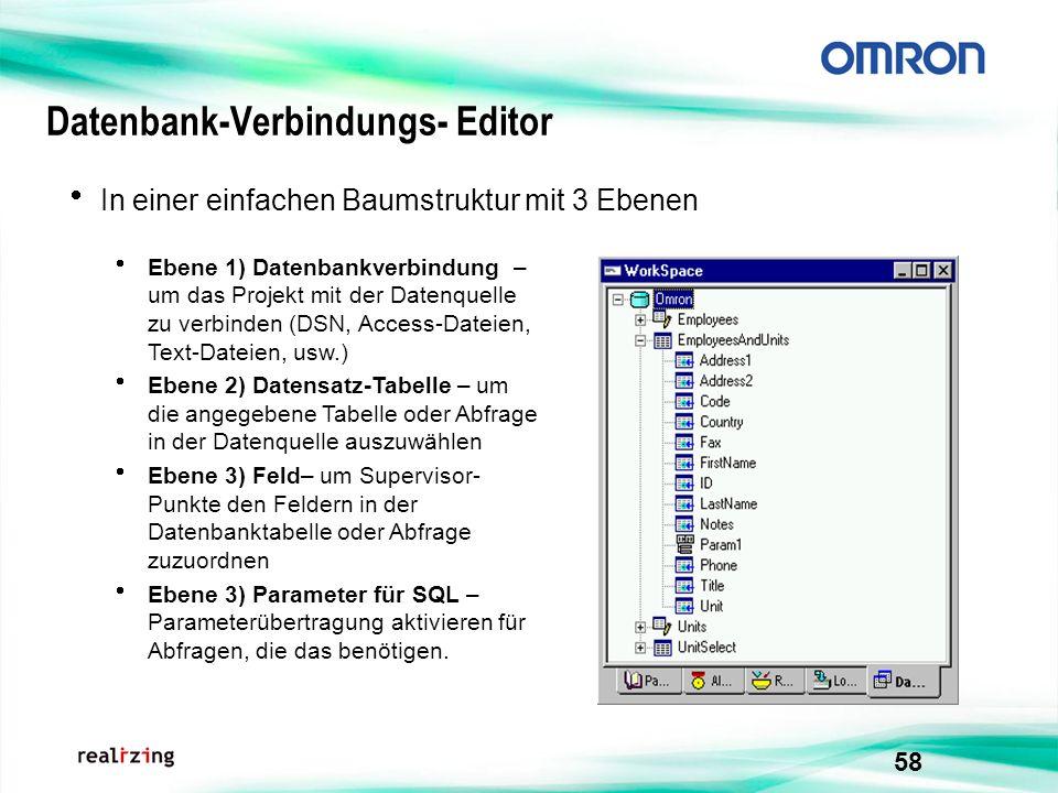 Datenbank-Verbindungs- Editor