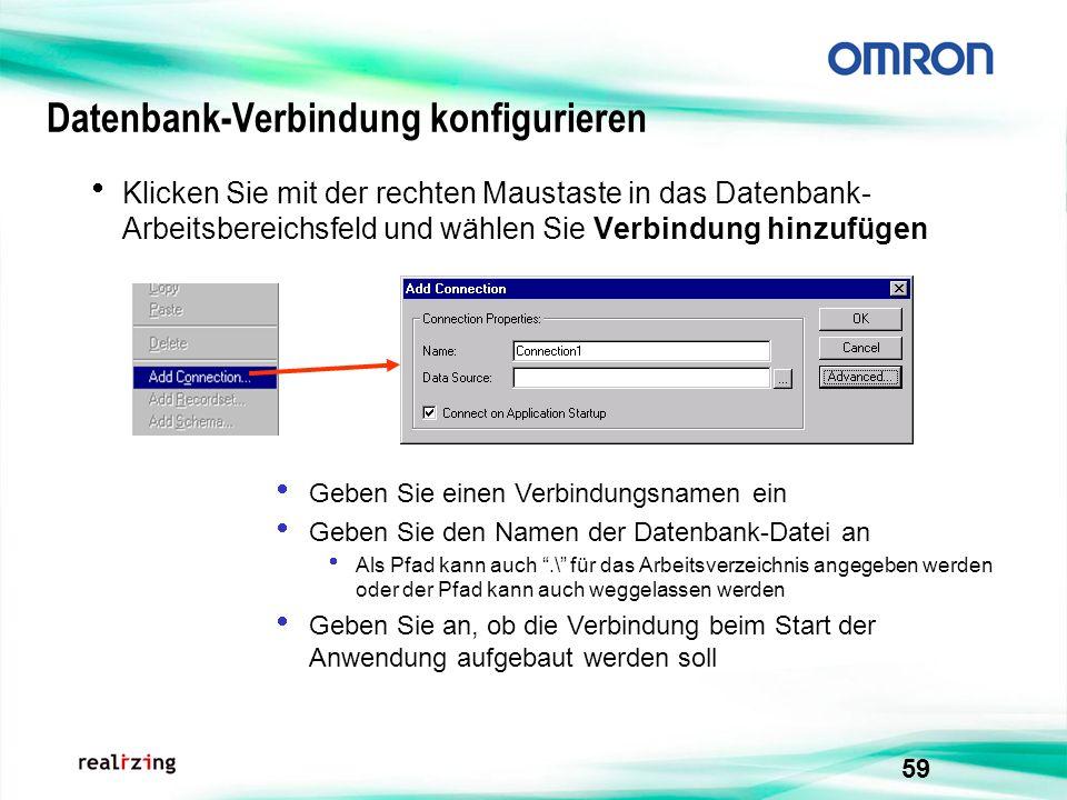 Datenbank-Verbindung konfigurieren