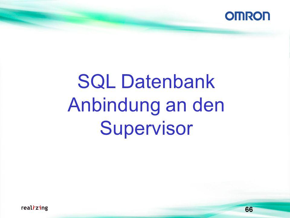 SQL Datenbank Anbindung an den Supervisor
