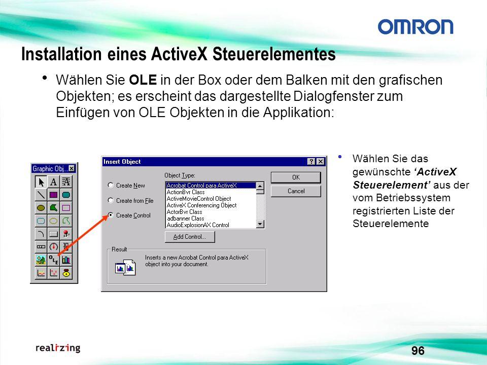 Installation eines ActiveX Steuerelementes