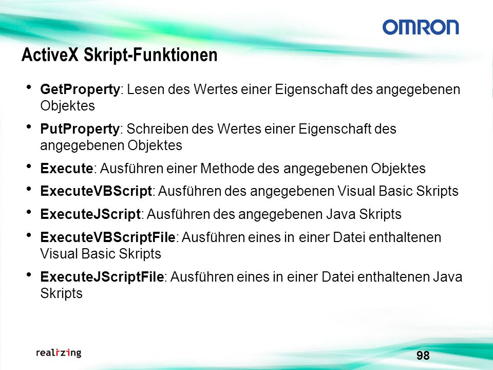 ActiveX Skript-Funktionen