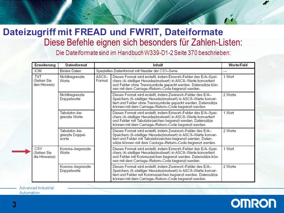 Dateizugriff mit FREAD und FWRIT, Dateiformate