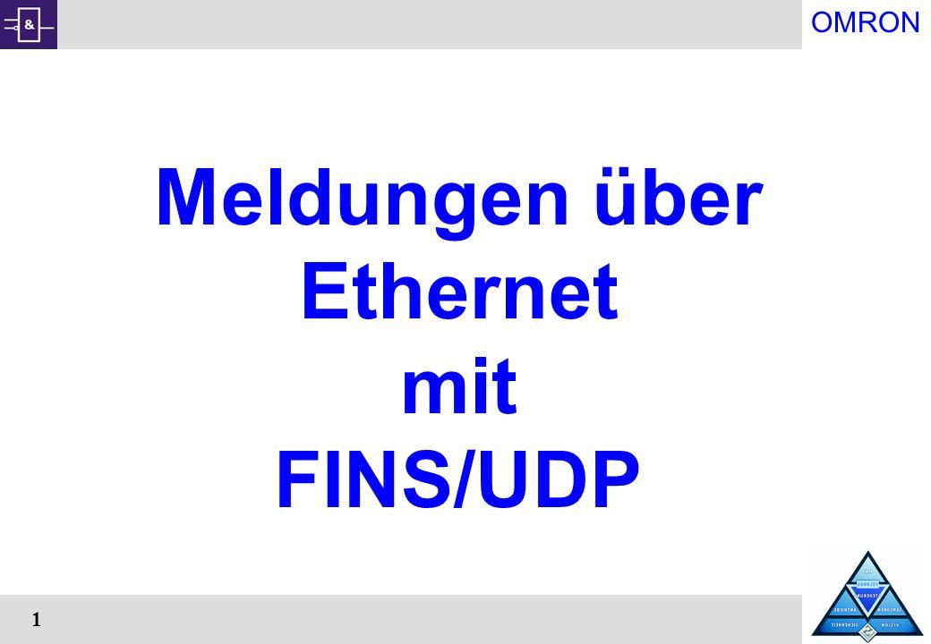 Meldungen über Ethernet mit FINS/UDP