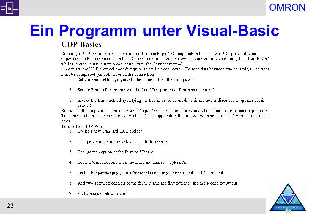Ein Programm unter Visual-Basic
