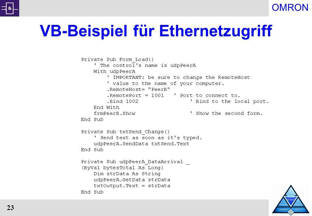 VB-Beispiel für Ethernetzugriff