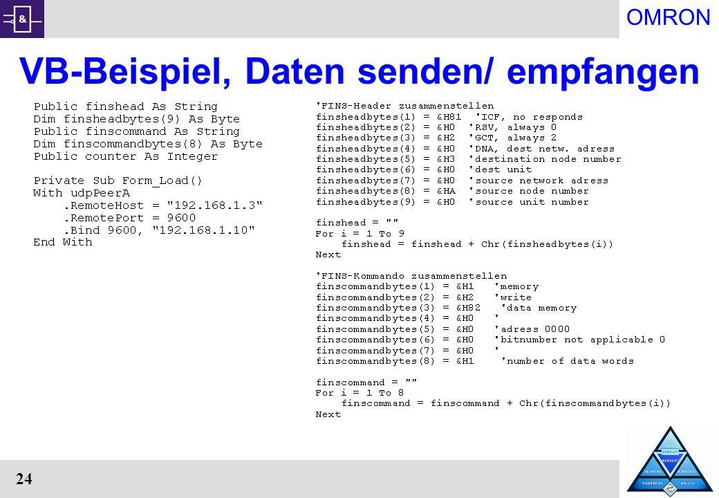 VB-Beispiel, Daten senden/ empfangen