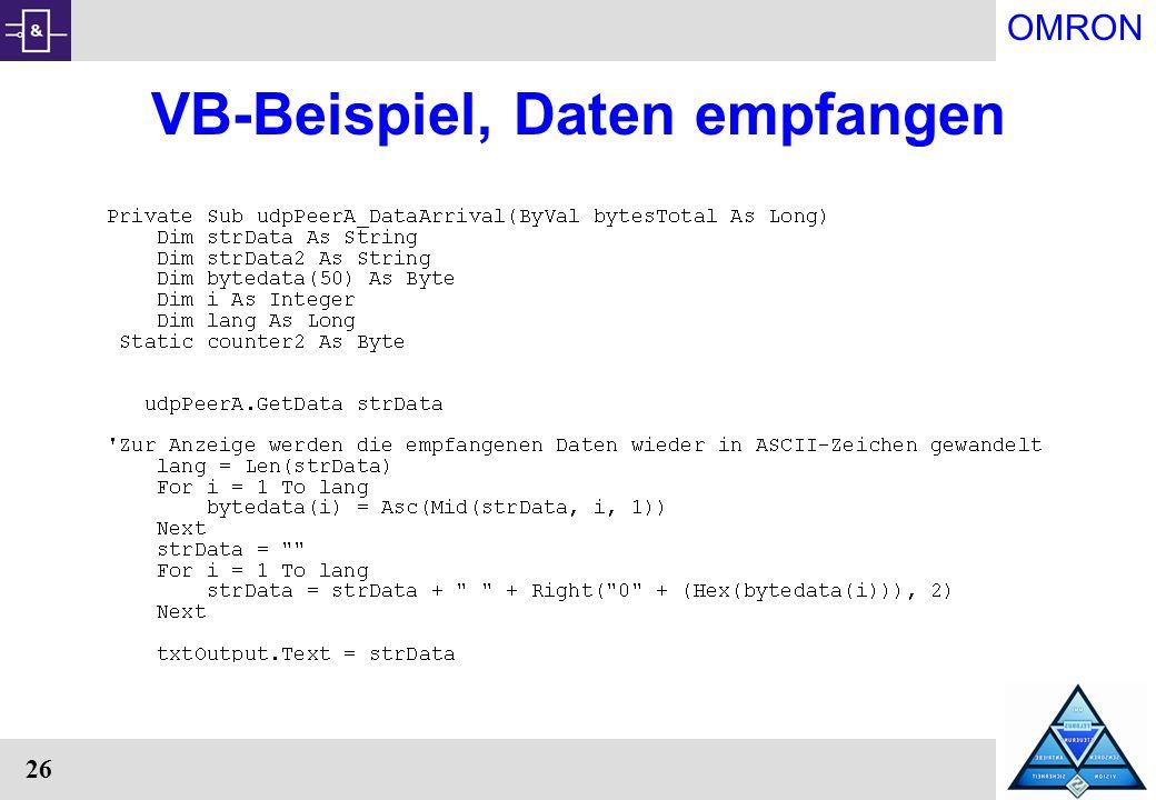 VB-Beispiel, Daten empfangen