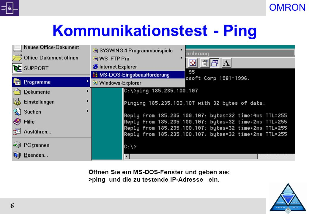 Kommunikationstest - Ping