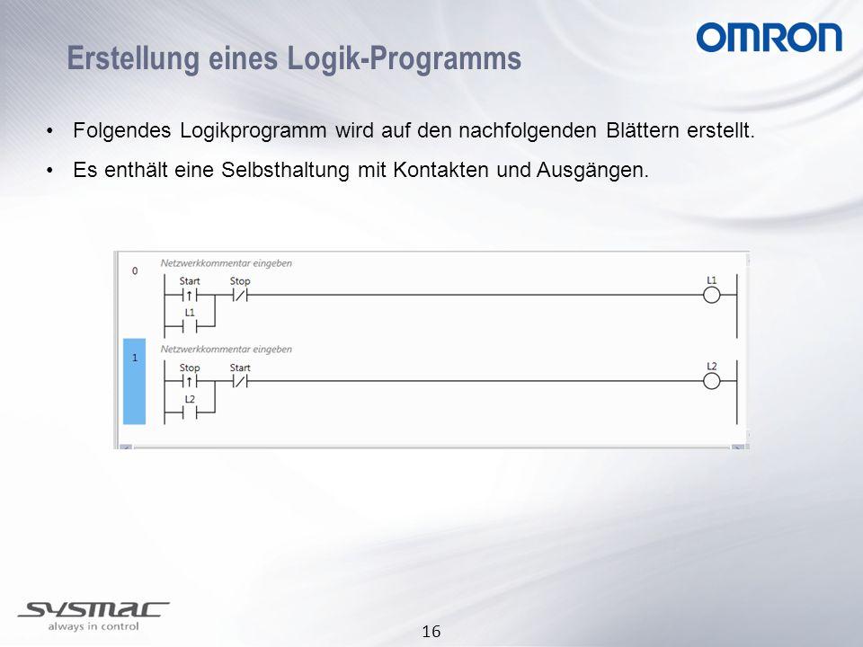 Erstellung eines Logik-Programms
