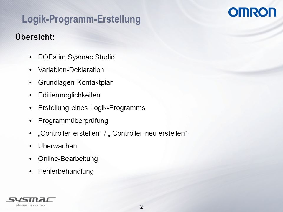 Logik-Programm-Erstellung