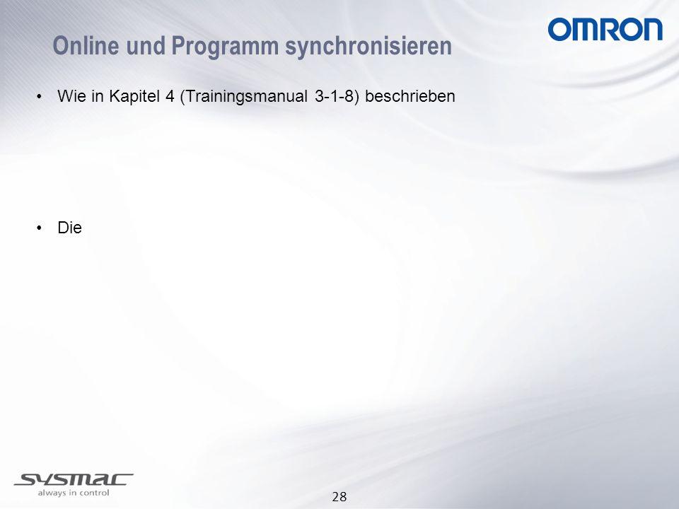 Online und Programm synchronisieren