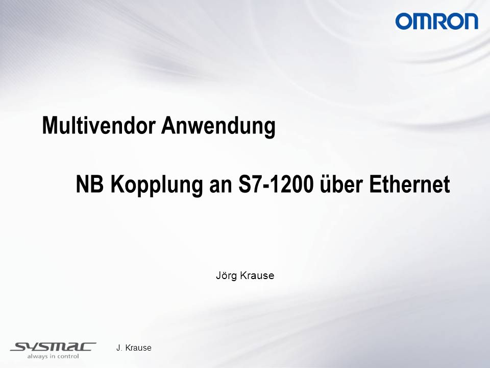 Multivendor Anwendung NB Kopplung an S7-1200 über Ethernet