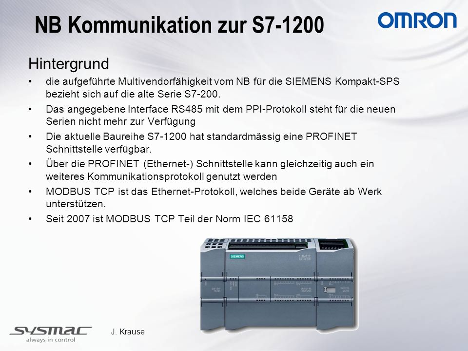 NB Kommunikation zur S7-1200
