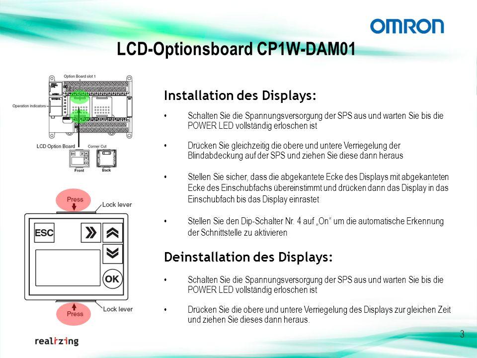 LCD-Optionsboard CP1W-DAM01
