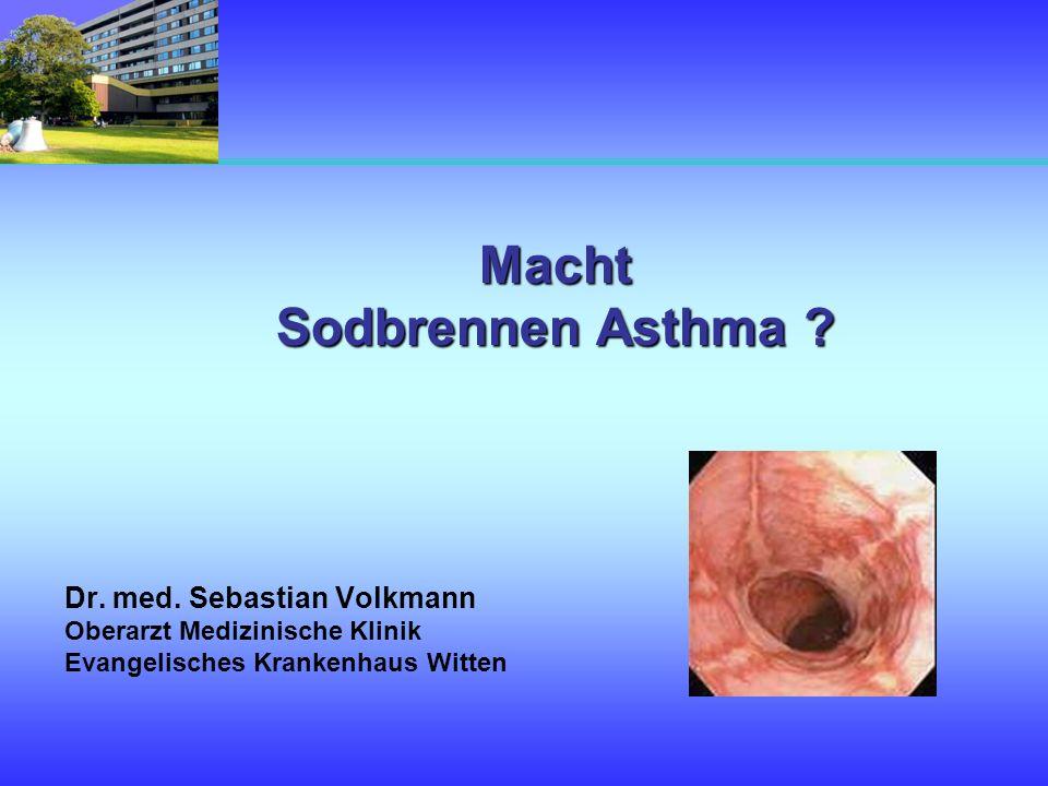 Macht Sodbrennen Asthma