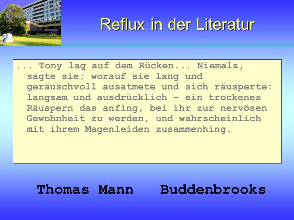 Reflux in der Literatur
