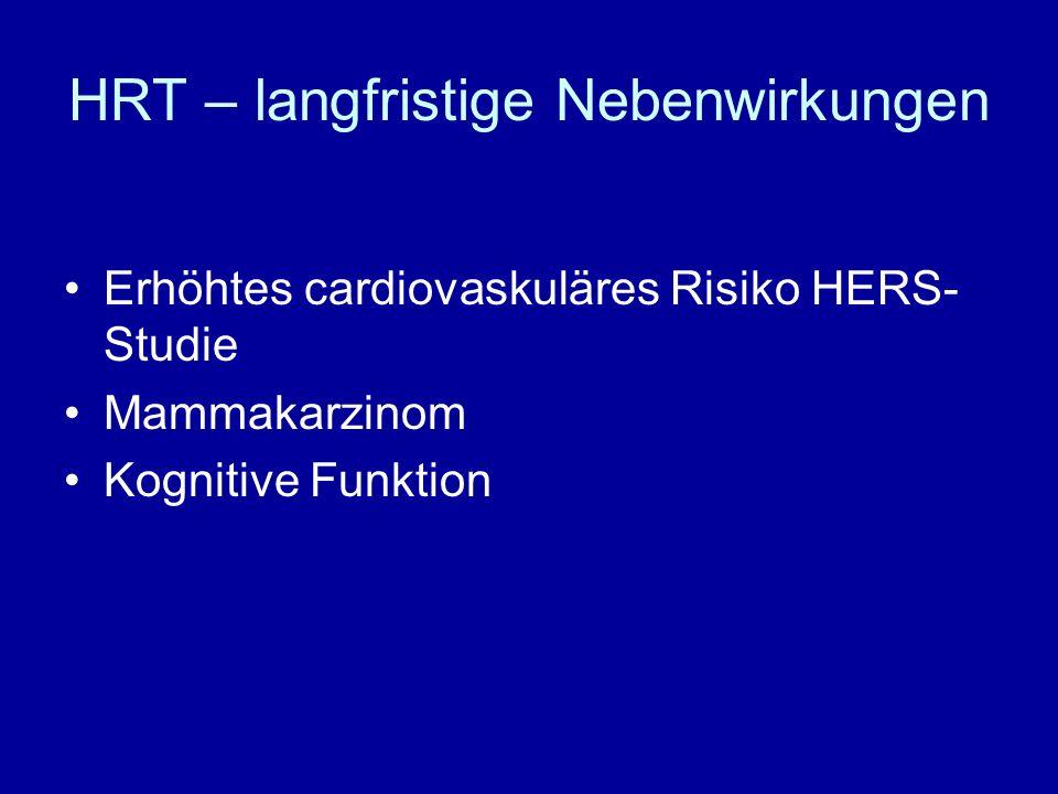HRT – langfristige Nebenwirkungen