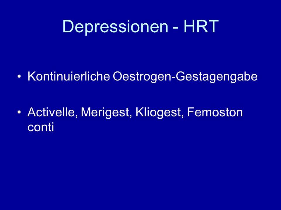 Depressionen - HRT Kontinuierliche Oestrogen-Gestagengabe