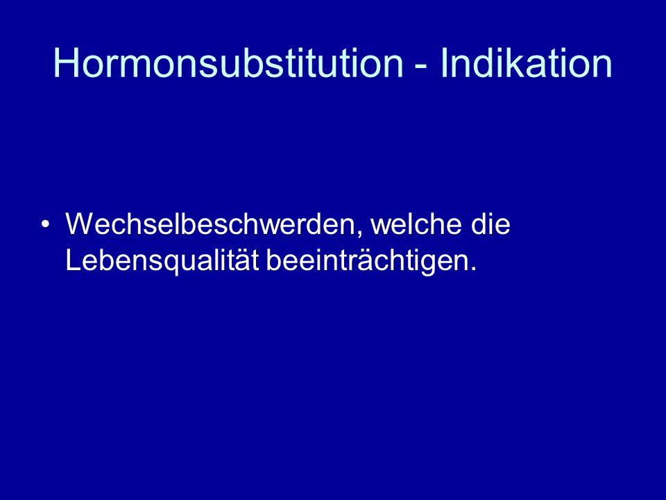 Hormonsubstitution - Indikation