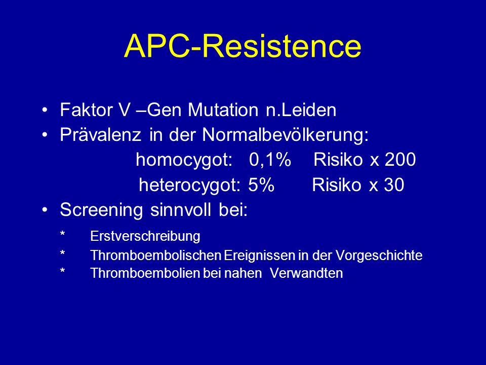 APC-Resistence Faktor V –Gen Mutation n.Leiden