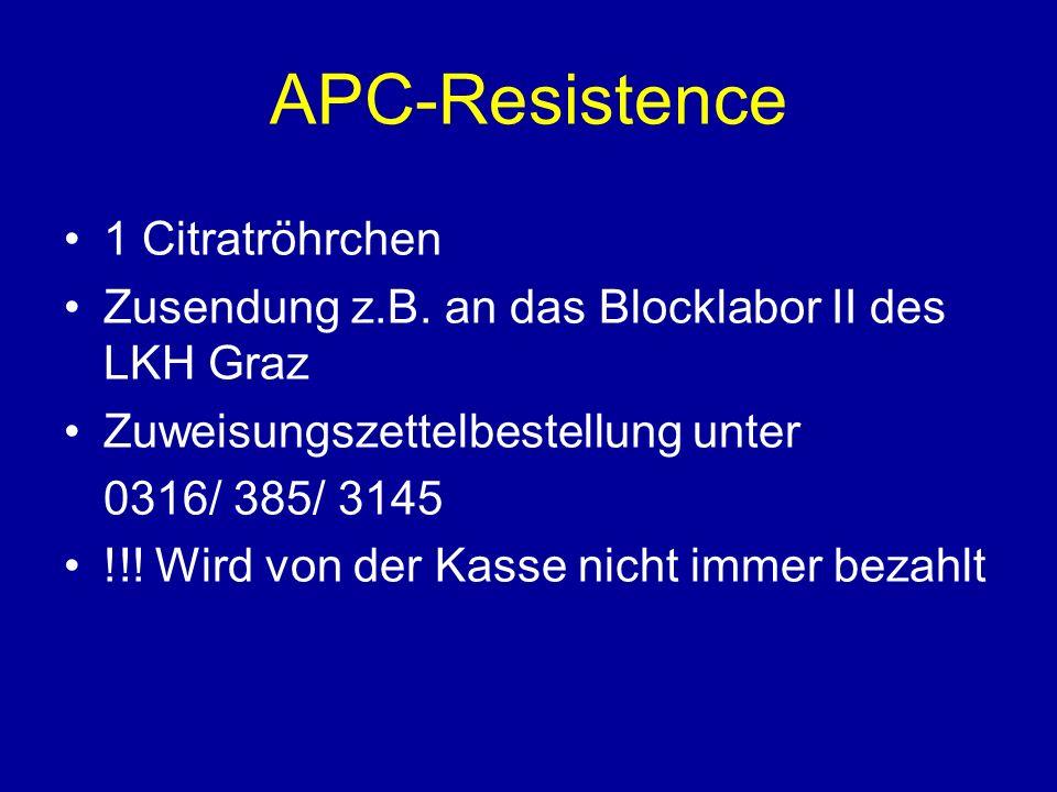APC-Resistence 1 Citratröhrchen