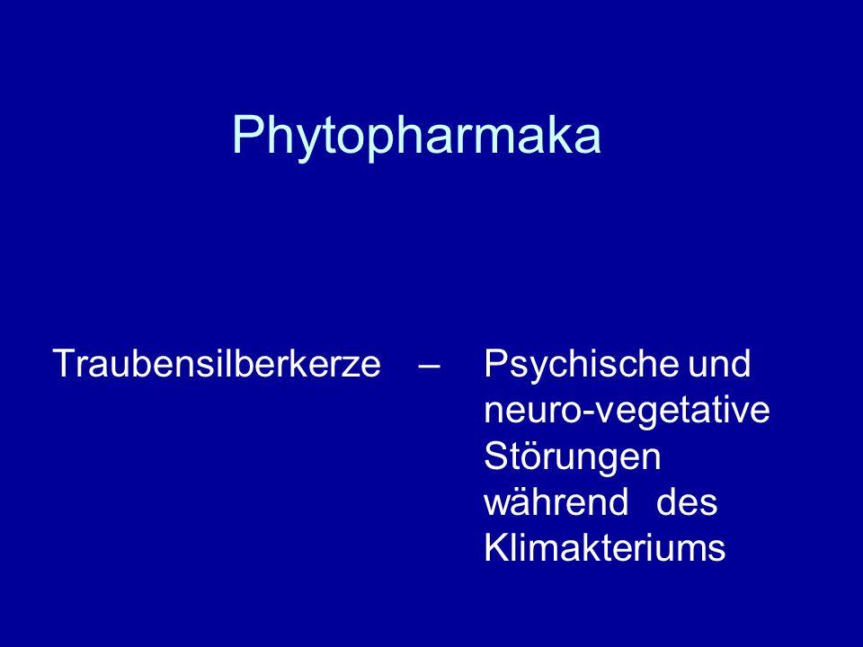 Phytopharmaka Traubensilberkerze – Psychische und neuro-vegetative Störungen während des Klimakteriums.