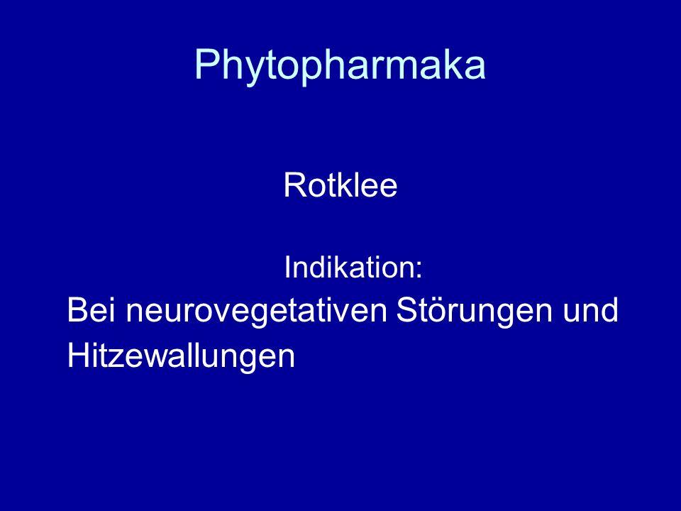 Phytopharmaka Rotklee Bei neurovegetativen Störungen und