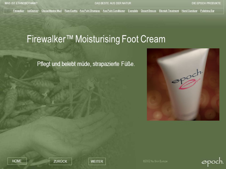 Firewalker™ Moisturising Foot Cream