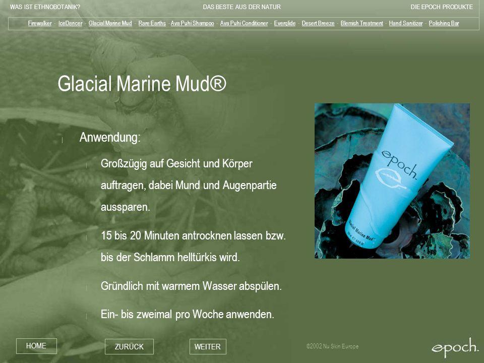 Glacial Marine Mud® Anwendung: