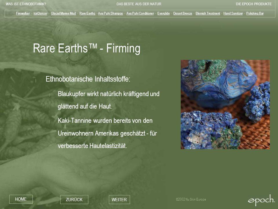 Rare Earths™ - Firming Ethnobotanische Inhaltsstoffe: