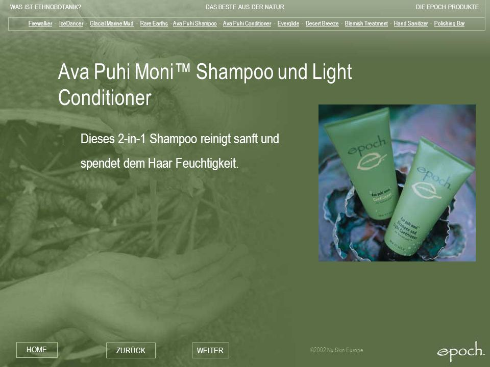 Ava Puhi Moni™ Shampoo und Light Conditioner