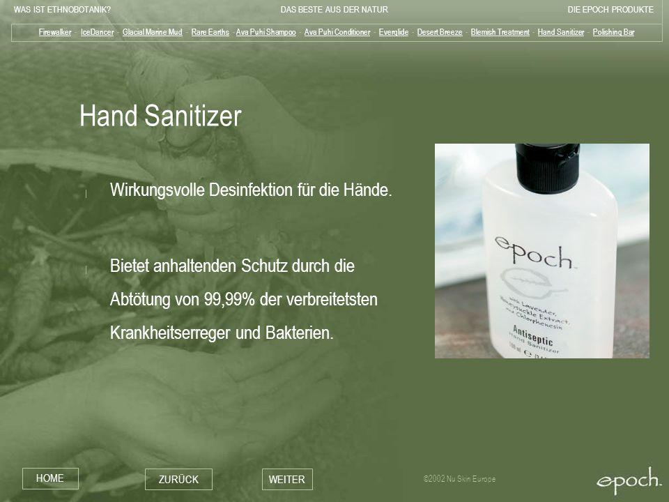 Hand Sanitizer Wirkungsvolle Desinfektion für die Hände.