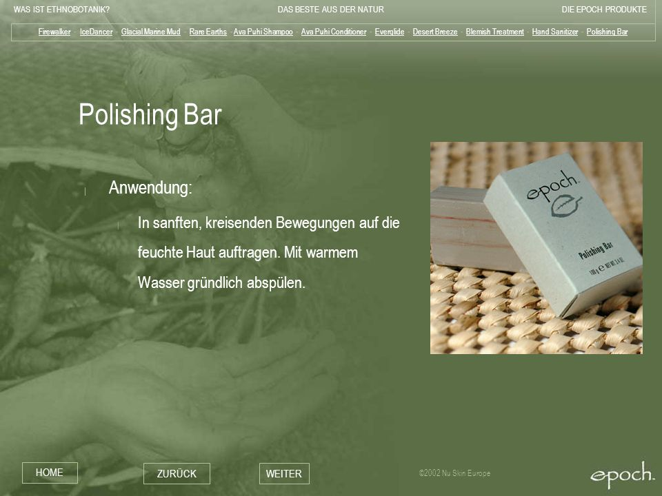 Polishing Bar Anwendung:
