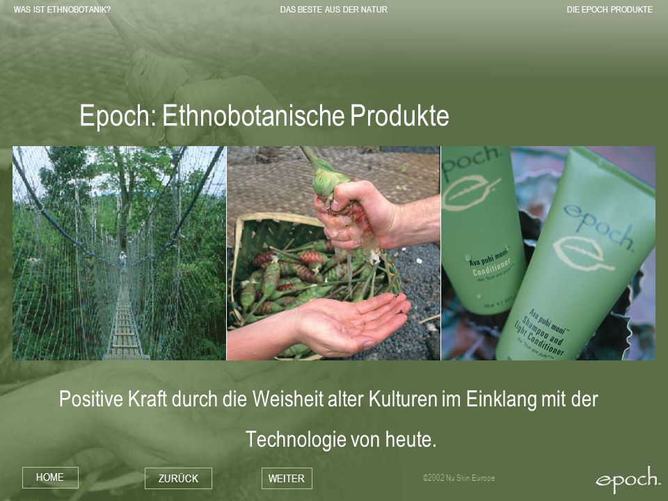 Epoch: Ethnobotanische Produkte
