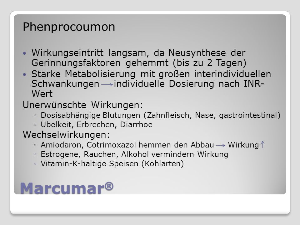 Marcumar® Phenprocoumon
