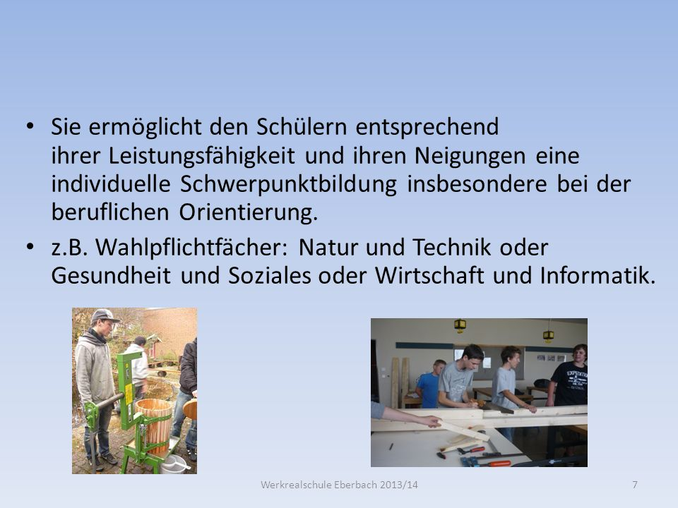Werkrealschule Eberbach 2013/14
