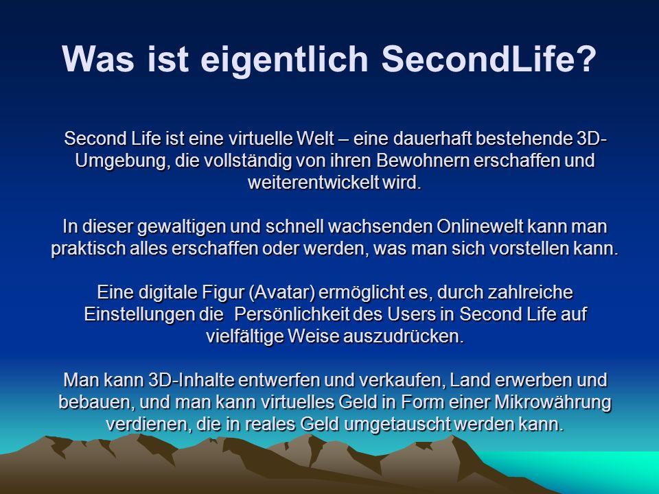 Was ist eigentlich SecondLife