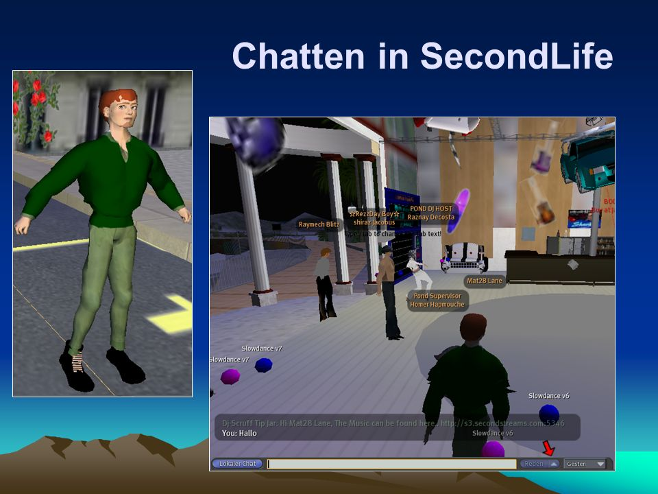 Chatten in SecondLife