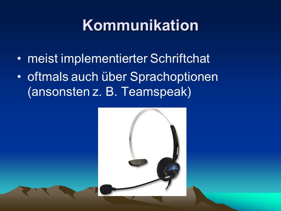Kommunikation meist implementierter Schriftchat