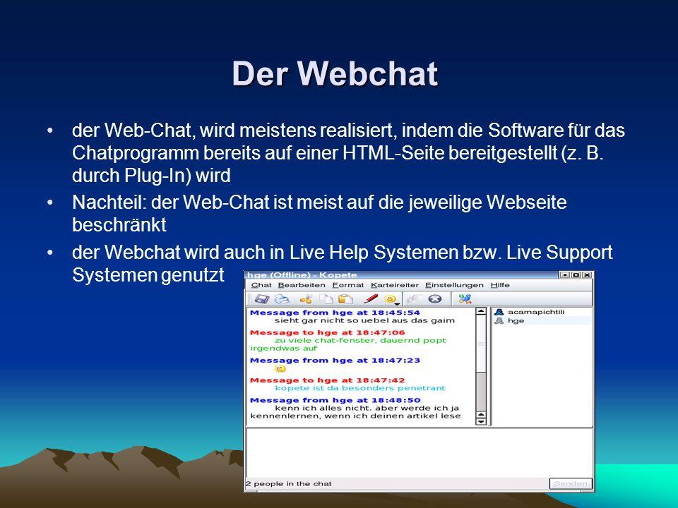Der Webchat