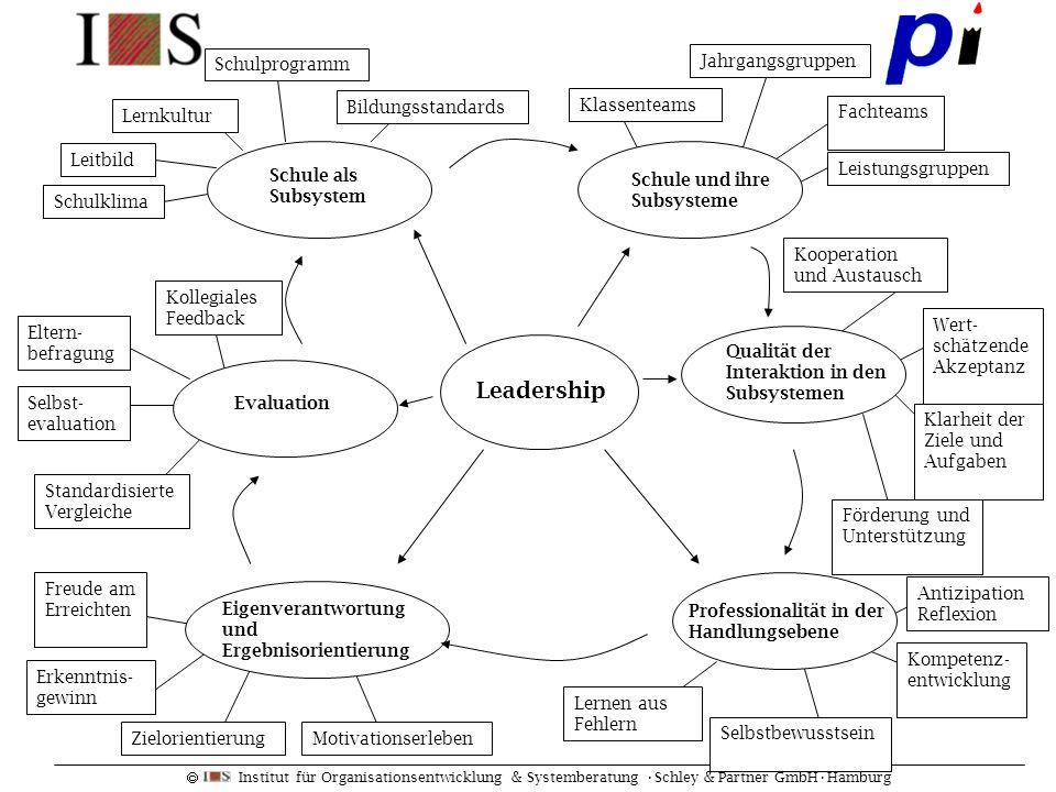 Leadership Schulprogramm Jahrgangsgruppen Bildungsstandards